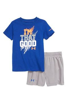 Under Armour 'I'm That Good' T-Shirt & Shorts (Baby Boys) available at #Nordstrom