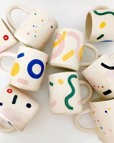 Explorer mugs by Carrie Lau aka O-M OBJECT-MATTER CERAMIC