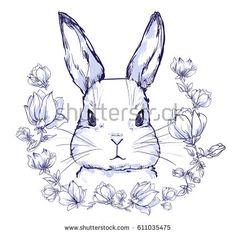 Картинки по запросу flower rabbit vector
