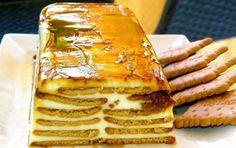 Receta de flan de queso con galletas Pie Dessert, Dessert Recipes, Mexican Food Recipes, Sweet Recipes, Cooking Time, Cooking Recipes, Quiches, Delicious Desserts, Yummy Food