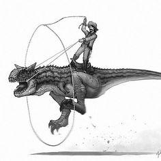 Yippie Yi Yay!!! #oldwestdinosaurs #oldwest #carnotaurus #dinosaurs #dinosaur #cowboy #cowboys #concert #illustration #drawing #draw #creaturedesign #fantasy #art #artist #artistsoninstagram #instaart #digitalart #reptiles #animals