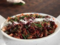 Beef and Beet Ragu with Pappardelle from CookingChannelTV.com