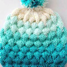Beanie Knitting Patterns Free, Beanie Pattern Free, Easy Knitting Patterns, Knitting Designs, Hat Patterns, Knitted Hats Kids, Knitting For Kids, Knitting Yarn, Free Knitting