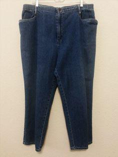"24.30$  Watch now - http://vipxo.justgood.pw/vig/item.php?t=2n4g0jy39715 - Blassport Womens Jeans Size 18W (27"" Inseam) Blue Denim Pants Elastic in Waist"