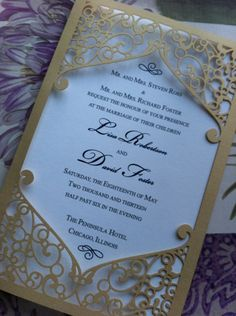 Frame - Elegant Wedding Invitation Laser Cut. $8.99, via Etsy.