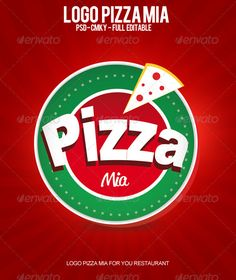 Logo Pizza Mia  #GraphicRiver         Great Logo for your food business!  	 - PSD - CMYK - 300 PDI - Easy to modify - Layers organized  	 name font: - ReklameScript-Regular_DEMO - Arial Black  Download font  .dafont /es/reklame-script-demo.font 	 Do not forget to vote for this file, when you buy  	 You can buy more on the subject of pizza mia Facebook Timeline Cover Pizza Mia here! graphicriver /item/facebook-timeline-cover-pizza-mia/2833286?
