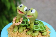 Turtles cake topper