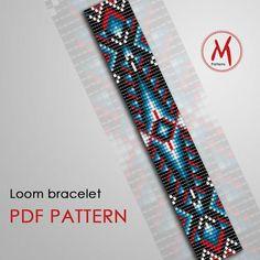 Native Beading Patterns, Bead Crochet Patterns, Beaded Bracelet Patterns, Weaving Patterns, Jewelry Patterns, Art Patterns, Embroidery Patterns, Jewelry Ideas, Embroidery Bracelets