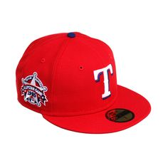 60e13953e404a Exclusive New Era 59Fifty Texas Rangers 1995 All Star Game Patch Hat - Red