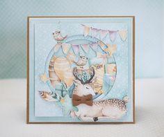Crafty by AgnieszkaBe Forest Friends, Bird Cards, Scrapbooking, Ephemera, Embellishments, Vintage World Maps, Big Shot, Handmade Cards, Inspiration