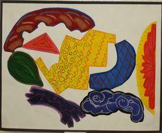 Elizabeth Murray painting with acrylics (KA)