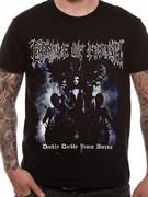 Officially licensed Cradle Of Filth t-shirt design printed on a 100% cotton short sleeved T-shirt.