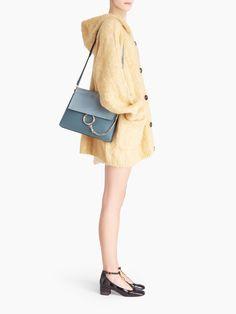 Faye Shoulder Bag In Smooth & Suede Calfskin Dust Bag, Chloe, Smooth, Velvet, Shoulder Bag, Beige, Leather, Women's Bags, Collection