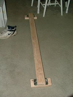 Homemade balance beam. I've been wanting one of these for awhile. Time to start bugging Hubby to build one again.