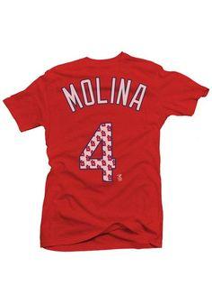 St Louis Cardinals Yadier Molina Player T-Shirt - STL 4 Womens Red Short Sleeve Player Tee http://www.rallyhouse.com/shop/st-louis-cardinals-1824110?utm_source=pinterest&utm_medium=social&utm_campaign=Pinterest-STLCardinals $36.99