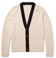 Dries Van Noten - Contrast-Trimmed Merino Wool Cardigan