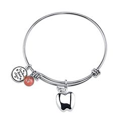 "Stainless Steel Expandable ""Teachers… Alex And Ani Charms, Charmed, Stainless Steel, Bracelets, Jewelry, Jewels, Schmuck, Jewerly, Bracelet"