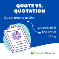 Quote vs. Quotation Proofreader, Grammar, Spelling, Vocabulary, Quotations, Texts, Acting, Quotes, Quote