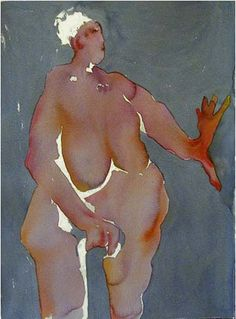 figures in watercolor
