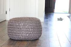 Crocheted Floor Cushions Free Pattern + Tutorial