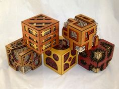 We never think outside of the box! 3d Laser, Wood Boxes, Laser Cutting, Tea Lights, Elsa, Cube, Candle Holders, Decorative Boxes, Woodworking