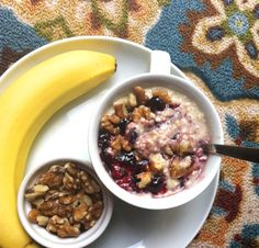Cherry Overnight Oatmeal; a creamy, hearty oatmeal that makes itself overnight with cherry preserves.