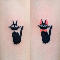 Valentine's Day Couple Tattoos Ideas Unique Meaningful - Soflyme Cute Small Tattoos, Small Tattoo Designs, Tattoo Designs For Women, Unique Tattoos, Tattoos For Women, Aa Tattoos, Couple Tattoos, Body Art Tattoos, Bus Art