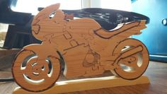 Motorbike puzzle for Christmas present