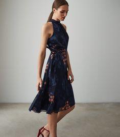 47f0de6f3a78 REISS - LAKE FLORAL BURNOUT DRESS