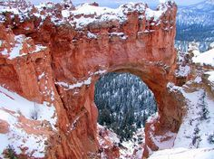 Beautiful photograph of Bryce Canyon in winter