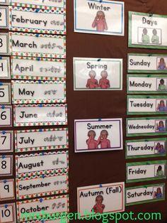American Sign Language Calendar