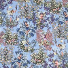 Michael Miller fabric Periwinkle Fairies blue fairy 2