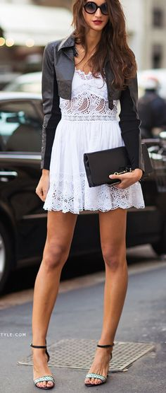 Leather + lace.