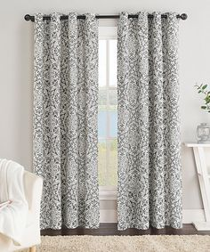 Look at this Gray York Curtain Panel on #zulily today!