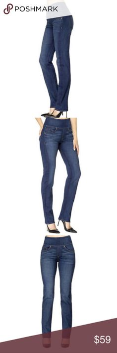 NWT THE SIGNATURE STRAIGHT SZ 28 in blue wash. NWT THE SIGNATURE STRAIGHT Size 28 in Blue Wash. Introducing our most innovative denim ever with a fine tuned fit, superior snapback each wear and concealed shaping at the stomach.  Favorite jeans with a shaping waistband. A side zip keeps the front looking smooth, while Triple Thread technology and extra-stretch yarn promise bounce-back wearability. Straight leg Fitted Side zip with hidden inside clasp closure Gap free waist Machine wash cold…