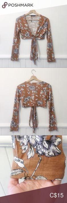 I just added this listing on Poshmark: Nasty Gal Tan Floral Tie Front Top. Plus Fashion, Fashion Tips, Fashion Design, Fashion Trends, Front Tie Top, Nasty Gal, Floral Tie, Knot, Long Sleeve Tees