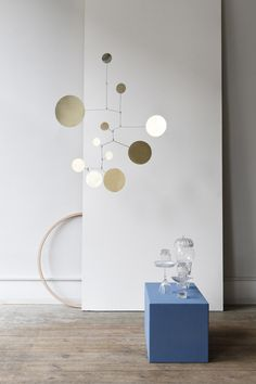 Brass Mobile. Hanging Mobile. By Lappalainen. Brass. Messing. Iron. Picture by Studio Oink.