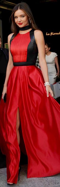 #RED ♔Style2 #2Style Miranda Kerr pinned by Miss Coco #MirandaKerr