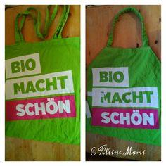 Montessori apron, Kinderschürze, Upcycling aus einer Stofftasche/ Shopping bag