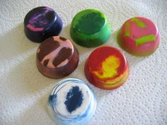 Melt down the broken crayons and stubs into a cupcake pan to create NEW CHUNKY CRAYONS!