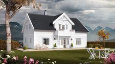 Et romantisk hus, både inne og ute. House Ideas, Mansions, House Styles, Doll, Home Decor, Decoration Home, Manor Houses, Room Decor, Villas