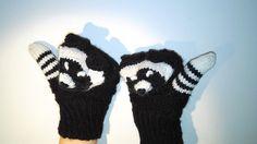 Handschuhe Kinder/ Tiere Handschuhe/ Dachse Gloves von NataNatastudio auf DaWanda.com