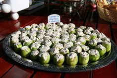 """""""Figs with creme fraiche and walnuts,"""" by L. Z., via Flickr.  One of a series of photos only (inspiration to find recipes!) from """"Fig festival - 'Festa od smokava' - Spomen dom Reževići, Montenegro"""""""
