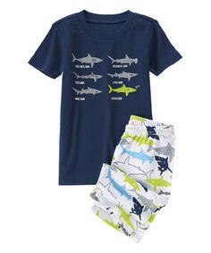 Another great find on #zulily! Gym Navy Shark Species Pajama Set - Infant, Toddler & Boys #zulilyfinds