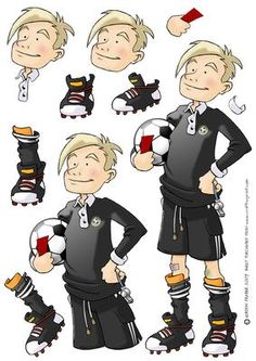 - Kick off time and Referee Teen Dude is totally in charge! Decoupage sheet version with loads of options to create your own D.