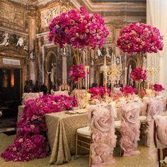 composition florale mariage déco-baroque-glamour