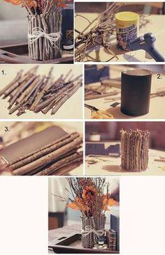 Obsequios que la economía no impedirá que regales ¡A reciclar! diy wood crafts for fall - Diy Fall Crafts Diy Para A Casa, Diy Casa, Vintage Diy, Vintage Ideas, Garrafa Diy, Decoration Bedroom, Diy Home Decor Bedroom, Wall Decor, Decor Diy