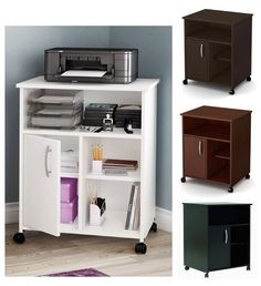 Merveilleux Contemporary Home Office Printer Stand Paper Organizer Storage Table Shelf  Cart