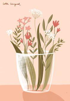 Illustration Noel, Plant Illustration, Forest Illustration, Botanical Illustration, Floral Illustrations, Illustrations Posters, Botanical Wall Art, Ipad Art, Plant Art