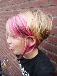 Pink idea for inverted bob